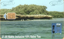 Erithrea - Eritel, ER-ERI-0015B, Rock In Water, CN: 02, 27Nfk, Heavily Used - Eritrea