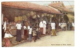 CEYLON - SRI LANKA - Native Botique Or Shop - Sri Lanka (Ceylon)
