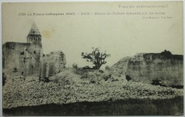 GUERRE 14-18 - HAM Ruines Du Château Dynamité Par Les Boches - Ham