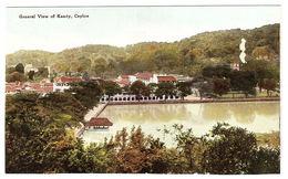 CEYLON - SRI LANKA -  General View Of Kandy, Ceylon - Sri Lanka (Ceylon)