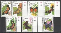 F358 GUYANA FAUNA INSECTS BUTTERFLIES 1SET MNH - Schmetterlinge
