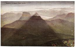 CEYLON - SRI LANKA -  Shadow Of Adams Peak, Ceylon - Sri Lanka (Ceylon)