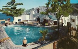 CARTE POSTALE ORIGINALE DE 9CM/14CM : SWIMMING POOL ZANE GREY PUEBLO HOTEL AVALON CATALINA ISLAND  CALIFORNIA USA - Los Angeles