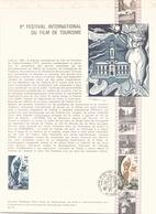 FRANCE DOCUMENT OFFICIEL DU 2 OCTOBRE 1976 TARBES X° FESTIVAL DU FILM TOURISTIQUE - Documents De La Poste