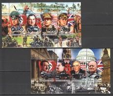 F371 2012 COTE D'IVOIRE LEADERS OF WORLD WAR STALIN HITLER ROOSEVELT 2KB MNH - 2. Weltkrieg