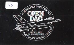 NEDERLAND CHIP TELEFOONKAART CRE 153 * ROYAL AIRFORCE KONINKLIJKE LUCHTMACHT Telecarte A PUCE PAYS-BAS * ONGEBRUIKT MINT - Airplanes