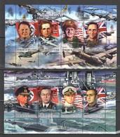 F372 2012 COTE D'IVOIRE LEADERS OF WORLD WAR GOLOVANOV, GORING, KING, CUNNINGHAM 2KB MNH - 2. Weltkrieg