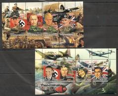 F373 2011 COTE D'IVOIRE LEADERS OF WORLD WAR AVIATION TANKS 2KB MNH - 2. Weltkrieg