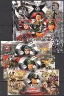 F374 2014 TCHAD GERMAN LEADERS OF WORLD WAR II WWII PRIVATE ISSUE 3BL+1KB MNH - 2. Weltkrieg