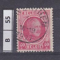 BELGIO 1922re Alberto 40 C Usato - 1922-1927 Houyoux