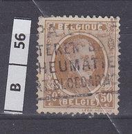 BELGIO 1922Re Alberto 50 C Usato - 1922-1927 Houyoux