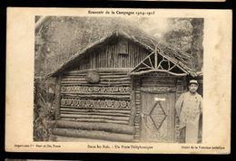 Souvenir De Campagne 1914/1918 - Dans Les Bois - Un Poste Téléphonique - Francia