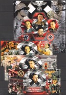 F376 2014 TCHAD GERMAN LEADERS OF WORLD WAR II WWII PRIVATE ISSUE 3BL+1KB MNH - 2. Weltkrieg