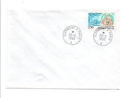 OBLITERATION DERNIER JOUR AMBULANT CLERMONT A PARIS -D- 22/5/1993 - Marcophilie (Lettres)