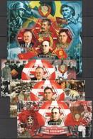 F377 2014 TCHAD SOVIET LEADERS OF WORLD WAR II WWII PRIVATE ISSUE 3BL+1KB MNH - 2. Weltkrieg