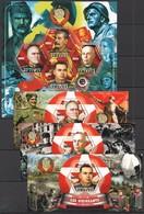 F378 2014 TCHAD SOVIET LEADERS OF WORLD WAR II WWII PRIVATE ISSUE 3BL+1KB MNH - 2. Weltkrieg