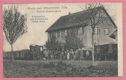 67 - GRUSS Aus WIWERSHEIM - Station SCHNERSHEIM - Locomotive - Ligne Train / Tram  STRASBOURG / WASSELONNE - Non Classificati