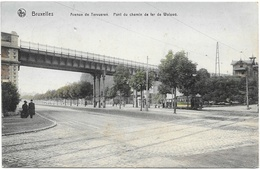 Bruxelles NA138: Avenue De Tervueren. Pont Du Chemin De Fer De Woluwé 1909 ( Tramway ) - Vervoer (openbaar)