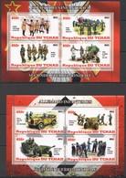 F385 2012 TCHAD WORLD WAR II WWII INFANTRY SOVIET & GERMAN PRIVATE ISSUE 2KB MNH - 2. Weltkrieg