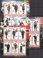 F386 2012 TCHAD WORLD WAR II WWII MILITARY UNIFORMS PRIVATE ISSUE 3KB MNH - 2. Weltkrieg