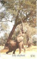TARJETA DE ZIMBAWE DE UN ELEFANTE (ELEPHANT) - Simbabwe