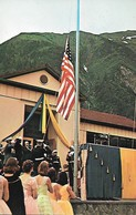 CARTE POSTALE ORIGINALE DE 9CM/14CM : JUNEAU COLORFUL AND IMPRESSIVE CEREMONIES ON JULY  4, 1959 ALASKA USA - Juneau