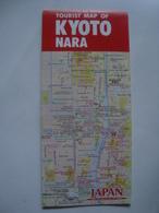 TOURIST MAP OF KYOTO NARA - JAPAN, 1994. - Maps
