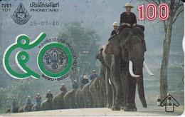 POSTAL DE TAILANDIA CON UNOS ELEFANTES   (ELEFANTE-ELEPHANT) - Elefantes