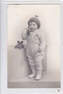PHOTO FOTO VINTAGE GARÇON NIÑO BOY TELEFONO PHONE TELEPHONE GORRO HAT BONNET CIRCA 1930's.- BLEUP - Anonymous Persons
