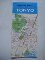 TOURIST MAP OF TOKYO - JAPAN, 1994. - Maps