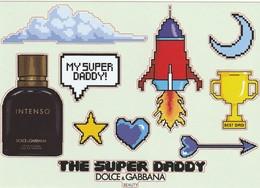 Dolce & Gabbana  * My Super DADDY*   Planche De 11 Stickers Avec  Flacon INTENSO - Cartes Parfumées