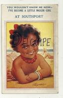 Petite Fille Noire à La Plage. Signée Taylor - Taylor