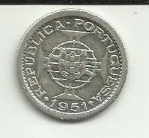 2.5 Escudos 1951 S. Tomé Silver - Sao Tome And Principe