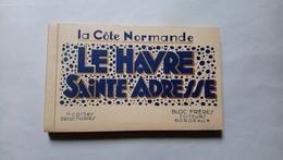 Carnet Le Havre Sainte Adresse La Côte Normande 20 Cartes Détachables Port Bassin De Commerce Paquebot Normandie - Sin Clasificación