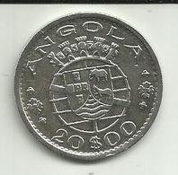20 Escudos 1952 Angola Silver - Angola