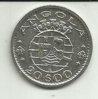 20 Escudos 1955 Angola Silver - Angola