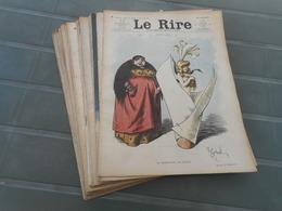 LE RIRE 1908, LOT DE 25 N° DE L'ANNEE 1908, ILLUSTRATEURS 1908,  JOURNAL LE RIRE - Livres, BD, Revues