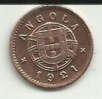 1 Centavo 1921 Angola Rare - Angola