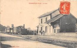 27 - EURE / Thiberville - 274494 - La Gare - Train - Beau Cliché - Other Municipalities