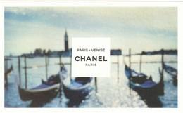 """CHANEL  """"Les EAUX De CHANEL""""  * VENISE*  Format Carte Postale - Cartes Parfumées"""