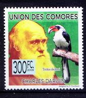 C1w- Comores 2009 MNH , Darwin, Decken's Hornbill, Birds,  Baron Karl Klaus  Decken - Sonstige