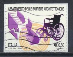 °°° ITALIA 2012 - ABBATTIMENTO DELLE BARRIERE ARCHITETTONICHE °°° - 6. 1946-.. Repubblica