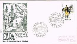 29056. Carta Exposicion ELDA (Alicante) 1974. Feria Del Calzado - 1931-Hoy: 2ª República - ... Juan Carlos I