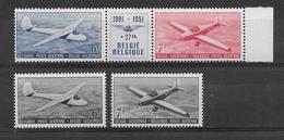 BELGIQUE - PA 27A + 28/29 * CHARNIERE TRES LEGERE - COTE YT = 64 EUR - Aéreo