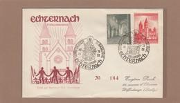 """CACHET SPECIAL: """"CONSECRATION DE LA BASILIQUE,ECHTERNACH"""" 20-9-1953 ET 25-9-1953. - Luxembourg"""