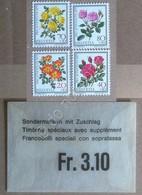 Francobolli Svizzera 1977 - Pro Juventute - 4 Valori Con Bustina - MNH ** - Non Classificati