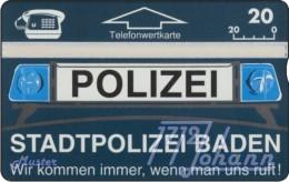 TWK Österreich Privat: 'Stadtpolizei Baden' Gebr. - Austria