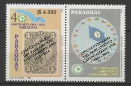 Paraguay (2014)  Yv. 3171 /  Overprinted - Stamp On Stamp - Timbre Sur Timbre - Postzegels Op Postzegels