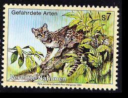 U8c- United Nations 1994 MNH, Wild Endangered Catlike Animals, Ocelot, Dwarf Leopard - Raubkatzen