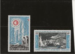 T.A.A.F - POSTE AERIENNE N° 7 ET 8 NEUF X INFIME CHARNIERE -ANNEE 1963-65 - COTE /360 € - Airmail